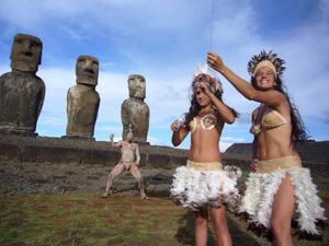 Каменные гиганты на острове Пасха